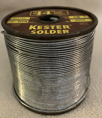 Kester Rosin Core 44 Solder 6040 .062 Dia. Core 66 Spool 5.2 Lbs