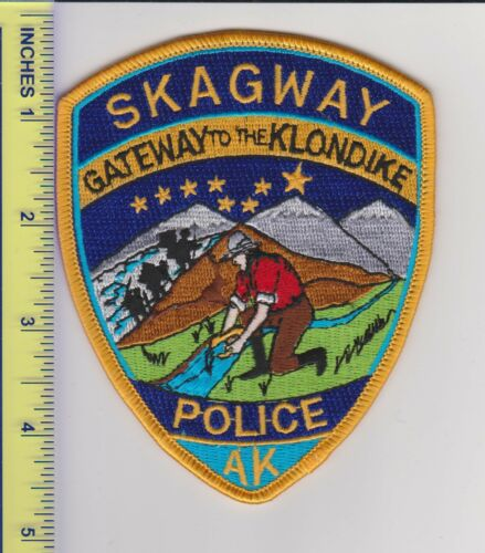 US Police Patch Skagway Alaska