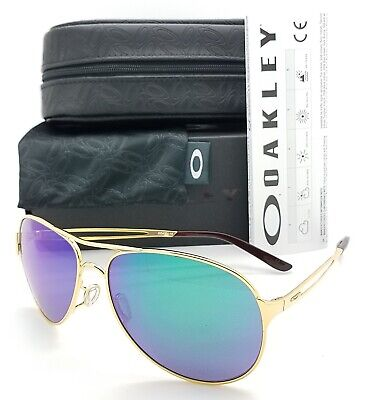 NEW Oakley Caveat sunglasses Gold Jade AUTHENTIC Green 4054-15 Aviator Womens