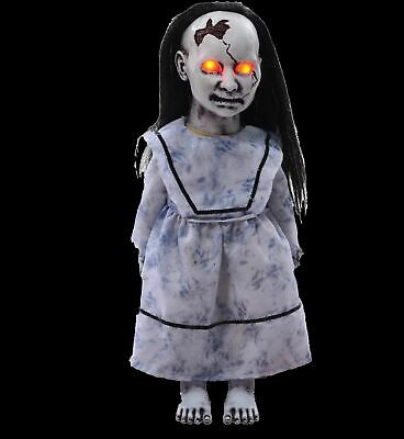 Halloween Animated LUNGING GRAVEYARD BABY DOLL DEMON LED Eyes Haunted House Prop