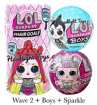 LOL Surprise Makeover Series 5 WAVE 2 Hairgoals Doll Sparkle BOYS Ball 6 In Hand](Plastic Balls In Bulk)