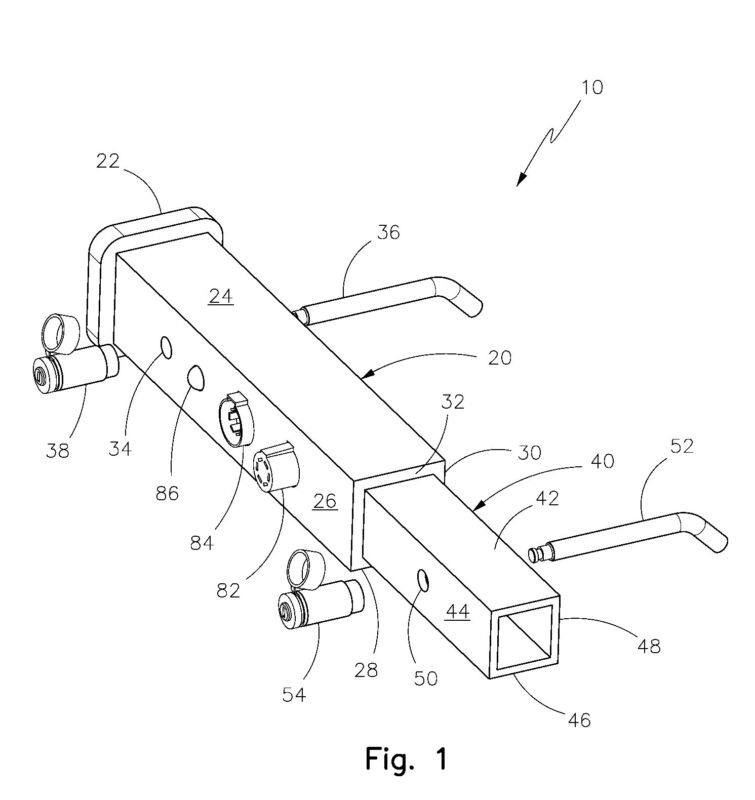Patent for sale or license ,hitch receiver security system US PATENT 7889062
