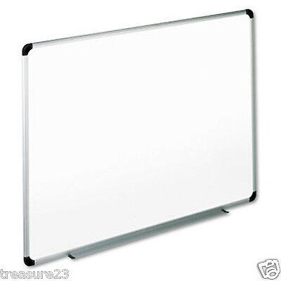 "Office Impressions Melamine White Dry Erase Board 48"" x 36"" Aluminum Frame"