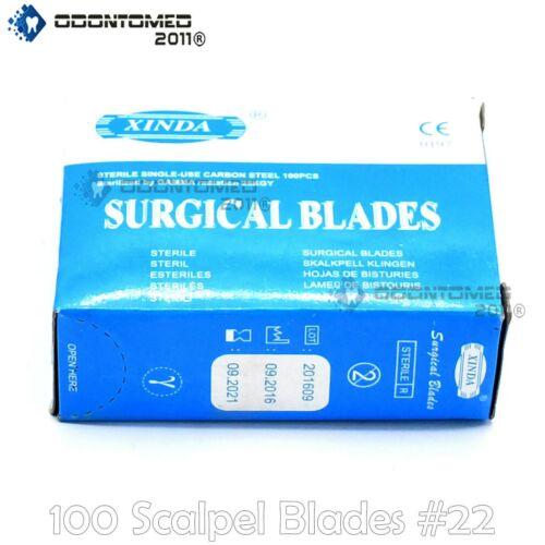 100 Scalpel Blades #22 Surgical Dental ENT Instruments