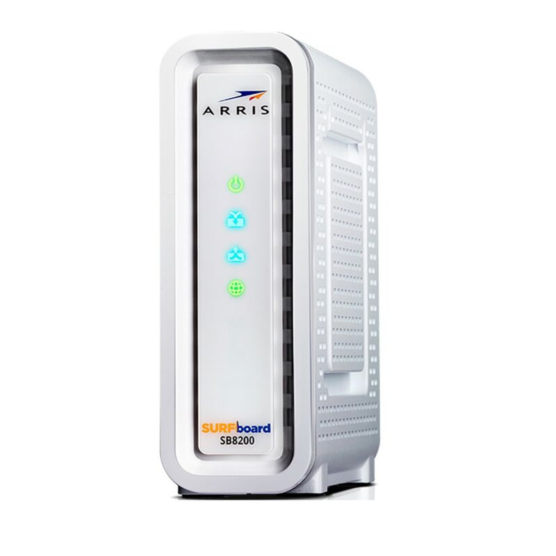 ARRIS SURFboard SB8200 DOCSIS 3.1 32x8 Cable Modem (White, in RETAIL BOX)