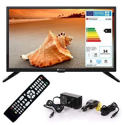 Wohnmobil Camping Fernseher LED TV 24 Zoll LCD DVB S S2 T2 C USB 12 V 230 Volt Fernseher