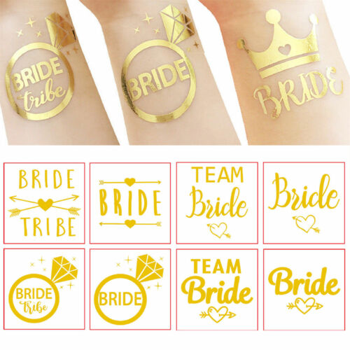 12x Gold Wedding Hen Party Bachelorette Party Temporary Tattoo Sticker Favor