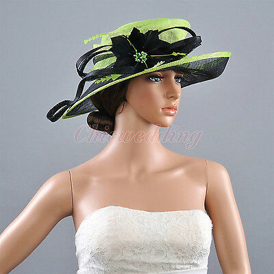 New Ladies Church Hat Wide Brim Derby Kentucky Wedding Tea Party Horse Races Hat