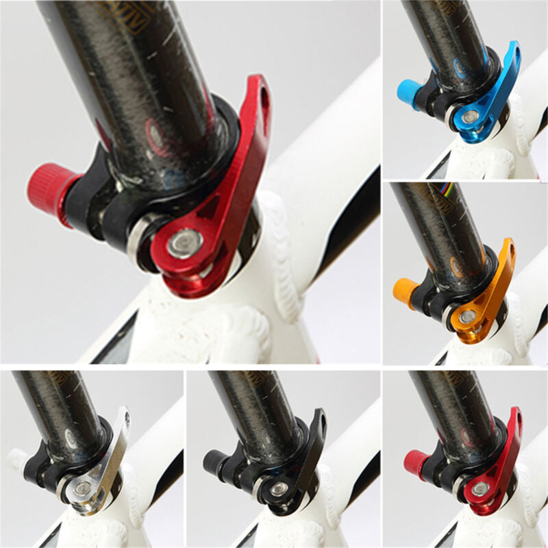 New Bicycle Cycling Aluminum Quick Release Seat Binder Post Clamp Skewer Bolt