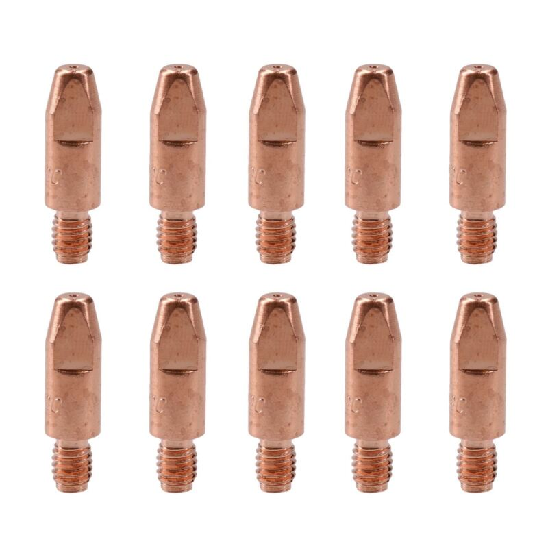 0.8mm Mig Welding Welder Round Contact Tips for MB25 MB36 Euro Torches 10pk