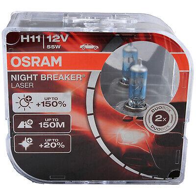 2 OSRAM H11 GLÜHLAMPEN NIGHT BREAKER LASER +150% MEHR HELLIGKEIT BIRNEN 64211NL-