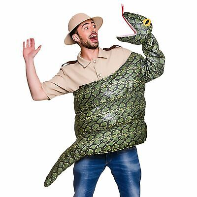 Adults Snake Fancy Dress Costume Anaconda Boa Constrictor Animal Reptile New - Snake Dress Up Costume