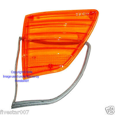 DRIVER Turn Signal Side Marker Lens For US HEAD LIGHT Mercedes 380sL 450sL 560sL - Headlights Drivers Side Marker Light