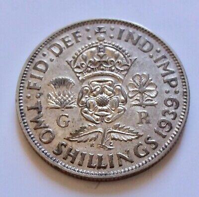 Grande Bretagne Great Britain 2 Shillings 1939 George VI argent silver KM 855