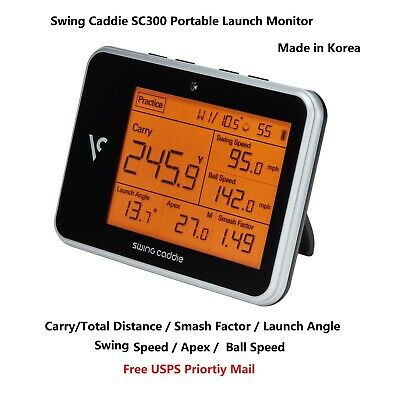 - New Swing Caddie SC300 Portable Golf Launch Monitor Speed Apex Smash Factor