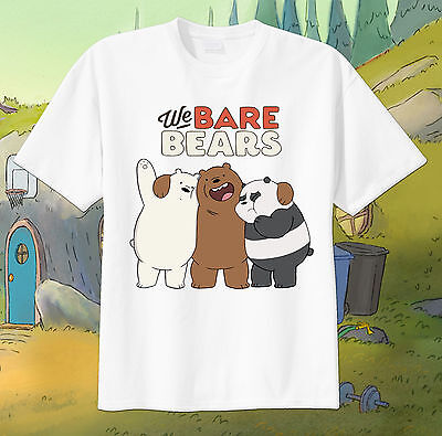 We Bare Bears HUGS Tshirt Personalize birthday gift Tee, Custom, NEW tv show - Personalize Gift