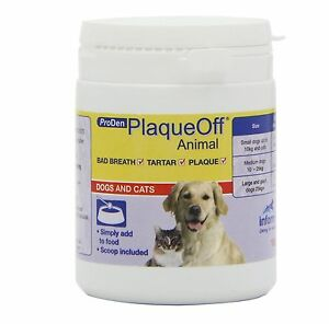 GENUINE Plaque Off Animal ProDen for Cats & Dogs 180g Teeth Cleaner