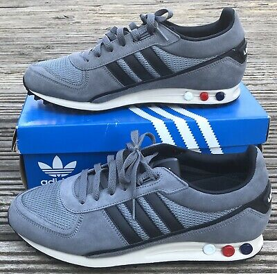 NEW ADIDAS ORIGINALS LA TRAINER II GREY TRAINERS UK 9