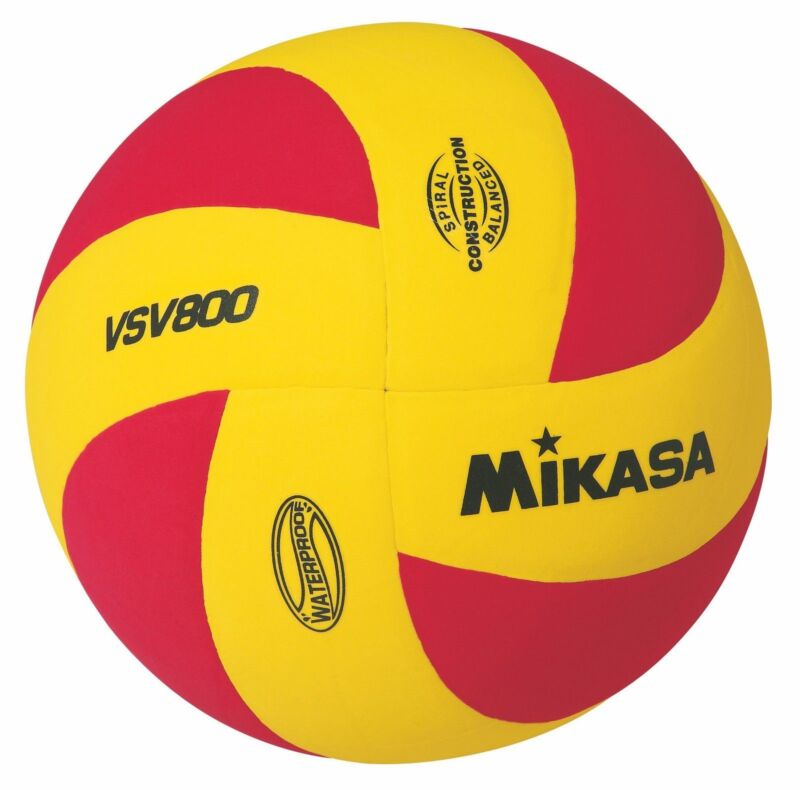 Mikasa Sports VSV Series Squish Outdoor Volleyball, Red & Yellow