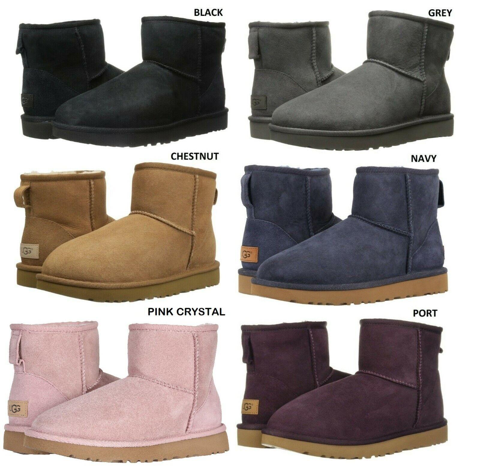 NEW UGG Women's Classic Mini II Winter Boots Shoes Black Che