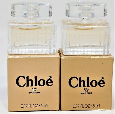 x2 Chloe Women's EDP Eau De Parfum Splash Perfume Mini Travel Sz .17 Oz NIB New