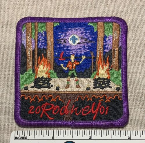2001 CAMP RODNEY Boy Scout Camper Badge PACH BSA Uniform Scouts