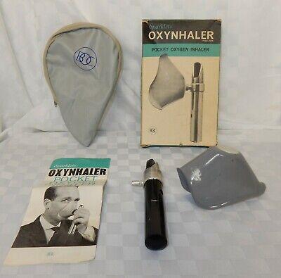 Vintage Sparklets BOC Oxynhaler Pocket Oxygen Inhaler in Original Box & Manual