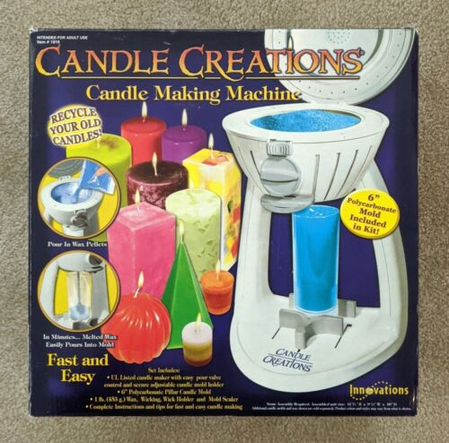 NEW Innovations Candle Creations Candle Making Machine #1919 Recycle Old Candles