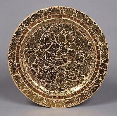 Metal Mosaic Plates - Charger Plates Mosaic on Metal Gold 13