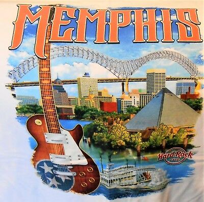 HARD ROCK CAFE MEMPHIS CITY TEE T-SHIRT SIZE ADULT XX-LARGE - NEW WITH TAGS