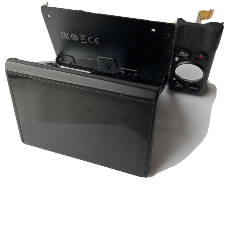 cannon g7x mark ii Rear Panel And Display