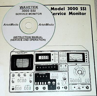 Wavetek 3000 Ssi Service Monitor Ops Service Manual