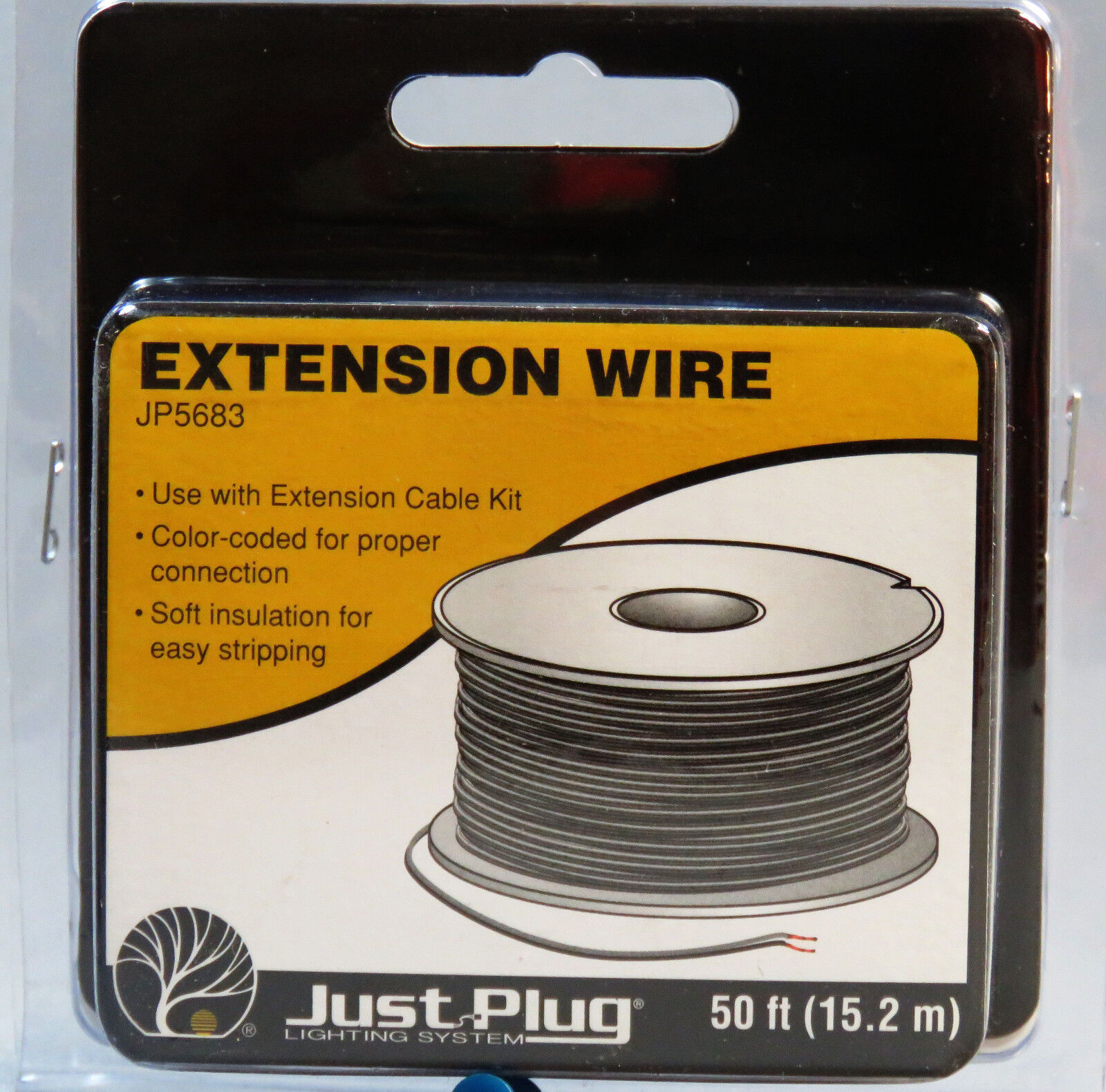 WOODLAND SCENICS EXTENSION WIRE FOR JUST PLUG LIGHTING SYSTE