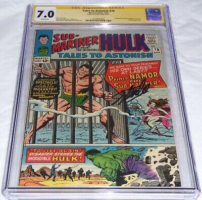 Tales to Astonish #70 CGC SS Signature Autograph STAN LEE Sub-Mariner Hulk Comic