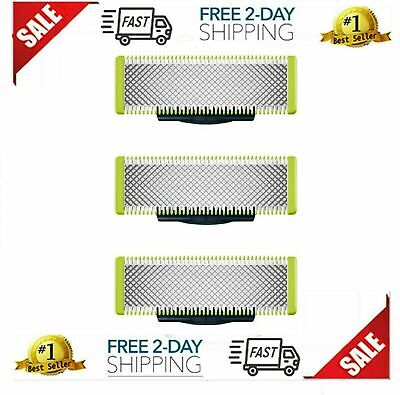 Philips Norelco-OneBlade Replacement Blade(3-Pack)-Silver/Green/Black-QP230/80