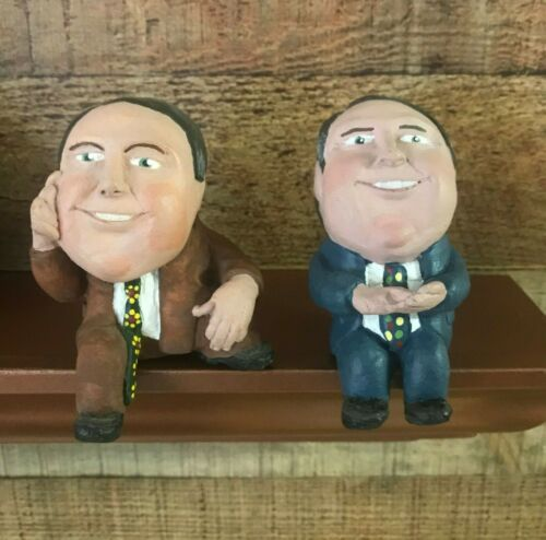 Set of TWO Rush LIMBAUGH RUSHKIN Figurines Shelf Sitters Limited Editions 1994