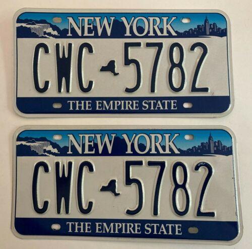 2000 New York License Plate PAIR Plates Nice Condition All Original