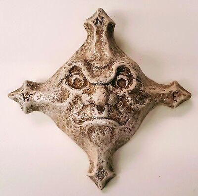 Star Face Mask Celestial Wall Decor Antique Reproduction Sandstone