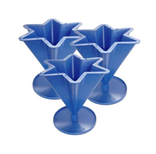 Proops Candle Mould 6 Pointed Tapered Star Shaped with Base, Set of 3.  S7602