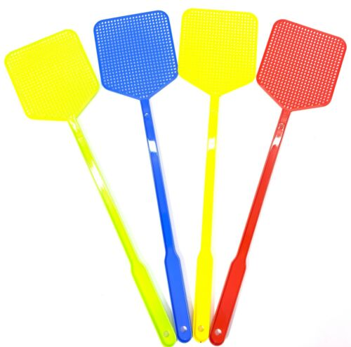 FLY SWATTER Plastic Bug Mosquito Insect Killer 4 Pack 4 Color Fly Swatter