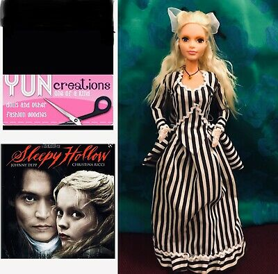 Barbie As Katrina of Sleepy Hollow - Tim Burton Handmade Custom For Collectors