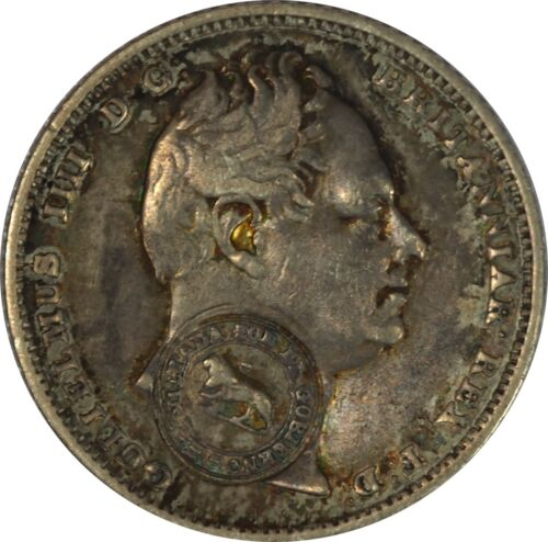1849-57 Costa Rica 2 Reales Counterstamped on 6 Pence Ch AU - Beautifully Toned