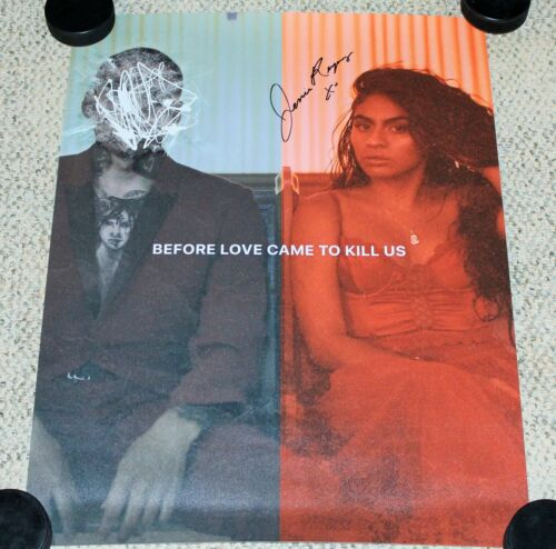 JESSIE REYEZ SIGNED 'BEFORE LOVE CAME TO KILL US' 11x17 LITHOGRAPH POSTER w/COA