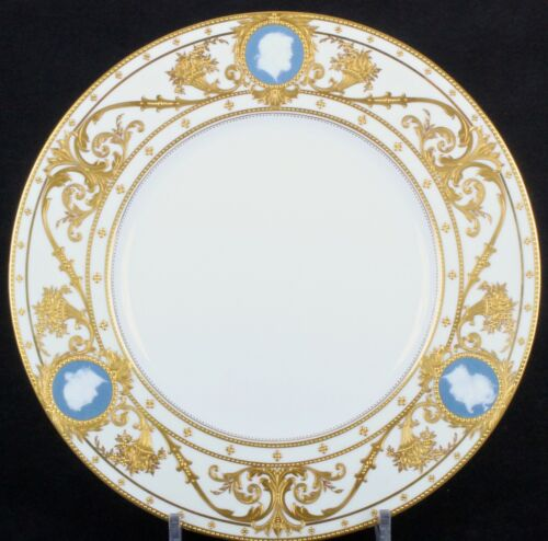 Minton Pate-sur-Pate Cameo Plate,  by artist Albion Birks,gilded, gilt, gold