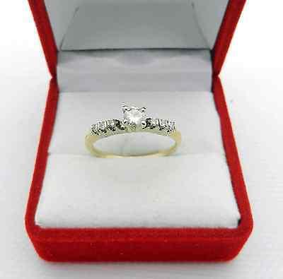 Estate 14k Yellow gold Natural Diamond 0.32 tcw Engagement Ring Insert size - 14k Yellow Gold Insert