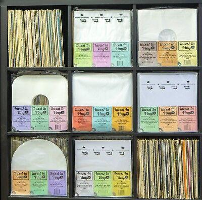 "50 LP Inner Sleeves Anti Static Round Bottom 33 rpm 12"" Vinyl Record Album"