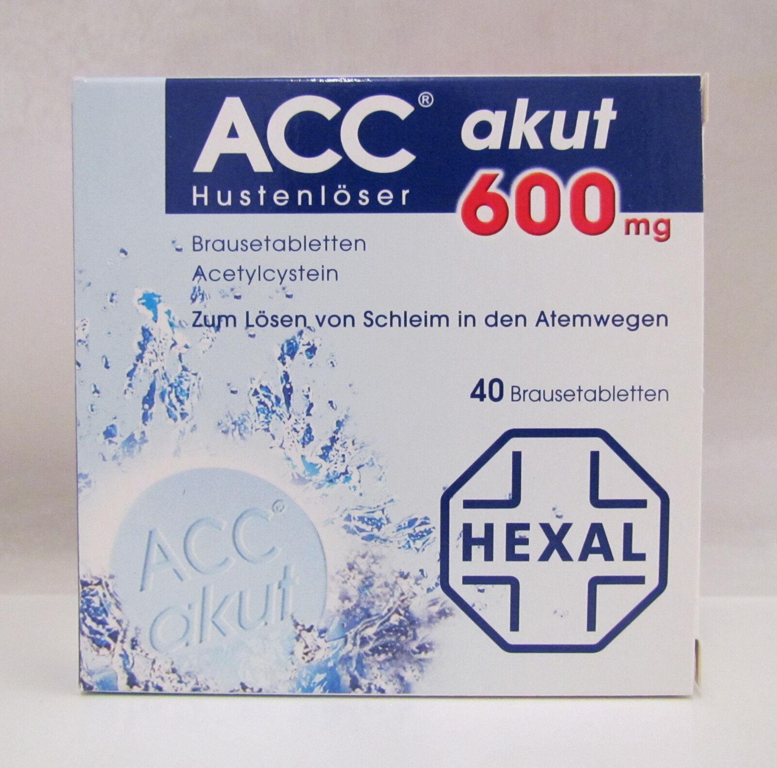 ACC akut 600 Hustenlöser 40 Brausetabletten  Hexal PZN: 00520917