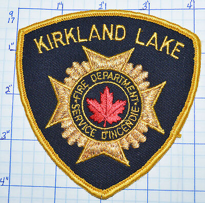 Canada  Kirkland Lake Fire Dept Service Dincendie Gold Edge Ontario Patch