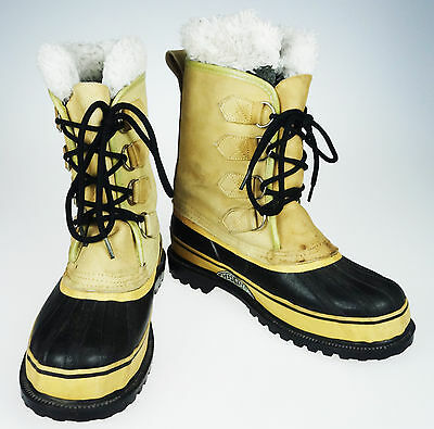 Mens 8 Steel Shank Snow Winter Duck Boot Leather & Rubber with Wool Liner