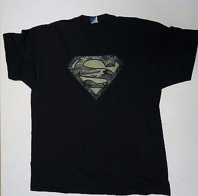Super man symbol Camo faded  DC Comics Black Medium XL   - Super Man Symbol